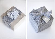 20 IDEAS to Transform Old Sweaters into New TREASURES!! Who would have thought of using sweater pieces for giftwrap! so pretty.