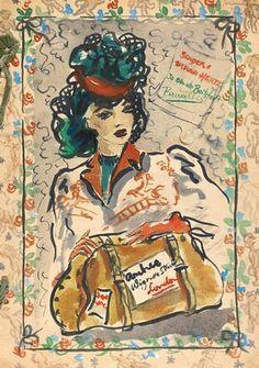 Fashion design, by Ursula Sternberg-Hertz, London, about 1947. Museum no. E.844-1989