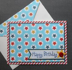 VALUE Birthday Card with Matching by SewColorfulDesigns on Etsy