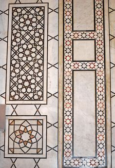 Marble in the Umayyad Mosque in Damascus.  Geometry in Islamic art reflected ritual and religious ideas of contemplation.  This decoration told a less literal story of a religion than seen in the basilica.  It told of story of belief but also of fabrication.