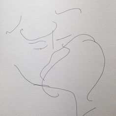 """2,436 Likes, 28 Comments - Christiane Spangsberg (@christianespangsberg) on Instagram: """"A blind drawing sketch of a kiss. Made in Syd."""""""