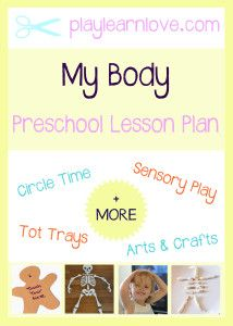 'My Body' Lesson Plan : Preschool and Toddler 'All About Me' Activities