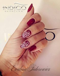 By Daria Michalska Wonderland4U, Follow us on Pinterest. Find more inspiration at www.indigo-nails.com #nailart #nails #indigo #red #white