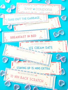 Free Printable Love coupons the perfect Valentine gift idea!  Capturing-Joy.com