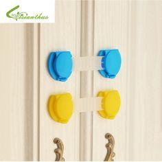 Baby Safety & Health Baby Cabinet Lock Fridge Door Locks Candy Color Plastic Locks Prop Safe C8