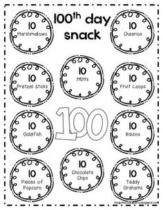 Free printable 100 day necklace template 3d house drawing 100th day of school k february pinterest school kindergarten rh pinterest com 100 day crown printable maxwellsz