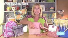 How to Sew a Simple Purse With a Flap : Recycled Crafts - YouTube