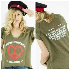 """Novedad.  """"La revolucionaria"""" www.aireretro.es  S M L.  #aireretro #vestido #blogger #camiseta #rockstyle #bohochic #sweatshirt #tshirt"""