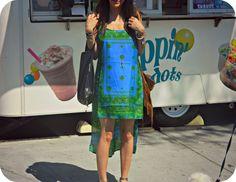 hi-lo silk scarf dress