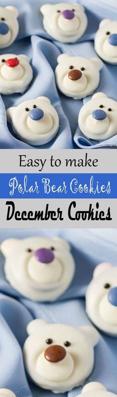 Easy to Make Polar Bear Cookies, December Cookies
