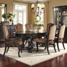 LéGrand Oval Wood Table Set by A.R.T. Furniture Inc