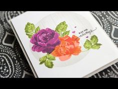 Floral Card - Make a Card Monday #271  ... masking ... getting great result from triple stamped flowers ...YouTube ...