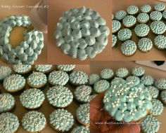 Blue/white Pearl Cupcakes I Made For My Sisteru0027s Baby Shower :)