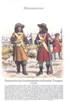 Band XIV #47.- Hannover. Braunschweig-Lüneburg-Cellesche Truppen um 1670. Regiment des Grafen Josias zu Waldeck.