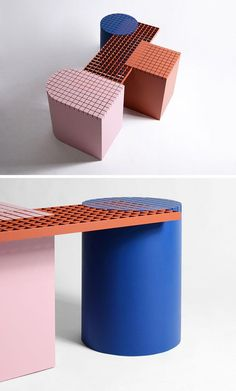 Belgium design firm nortstudio, have created 'Urban Shapes', a modern bench that draws inspiration from forms and materials found around the city.
