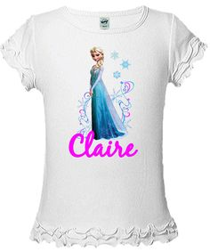 Frozen Elsa Shirt  Personalized With Your by AimToPleaseCreations, $14.75