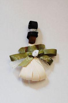 Disney Tiana ribbon sculpture Hair Clip