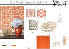 Concept Board Thibaut  Inspiration Orange Trellis