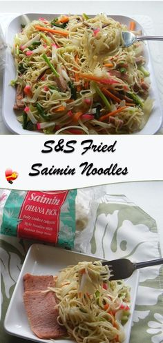 The best and favorite S&S fried saimin noodles recipe. Packed with a whole lot of vegetables and favorite ingredients makes this a winner.