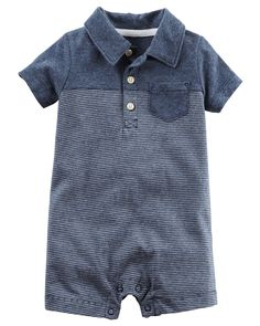 Baby Boy Striped Jersey Romper | Carters.com