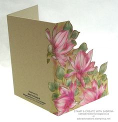 Stamp & Create With Sabrina: Remarkable You - Magnolia Blossoms