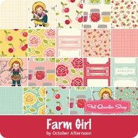 Farm Girl Fat Quarter Bundle<br/>October Afternoon for Riley Blake Designs