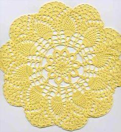 Free Crochet Doily Patterns Online We all love the delicately done crochet doilies. Thread Crochet, Crochet Crafts, Easy Crochet, Crochet Stitches, Crochet Projects, Free Crochet Doily Patterns, Crochet Motif, Crochet Lace, Free Pattern