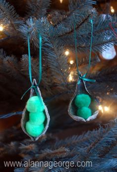 Peas in a Pod Ornament craft for kids - Alanna George | The Craft Nest