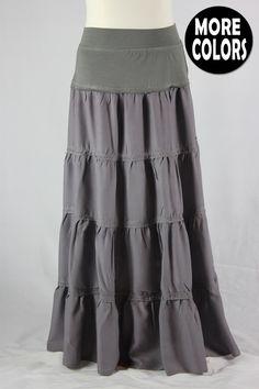 Girls Lexington Tiered Long Skirt, Sizes 6-18