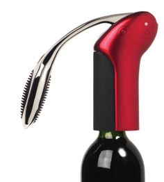 Metrokane Vertical Rabbit Lever Style Corkscrew with Foil Cutter, Candy Apple Red Sale - http://mydailypromo.com/metrokane-vertical-rabbit-lever-style-corkscrew-with-foil-cutter-candy-apple-red-sale.html