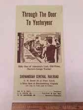 Vintage Ephemera: Shenandoah Central Railroad Brochure Train Virginia Tourism VA