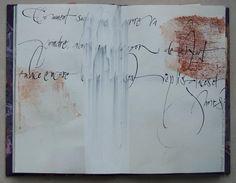"""livre-de-matieres: """" Étude calligraphique Élisabeth Couloigner """""""