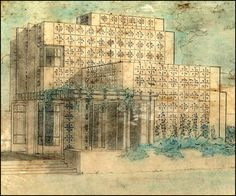 Frank Lloyd Wright, Alice Millard House ('La Miniatura') Pasadena, CA, 1923
