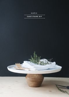 DIY Modern Cake Stand - Earnest Home co.