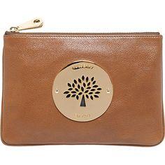 Mulberry - Daria Pouch in Oak Soft Spongy Mulberry Purse, Leather Accessories, Handbag Accessories, Stella Mccartney Purse, Beautiful Handbags, Small Leather Goods, Leather Pouch, Luxury Bags, Bags