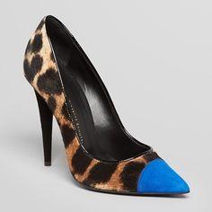 Rank & Style Top Ten Lists | Giuseppe Zanotti Leopard-Print Calf Hair & Suede Pumps