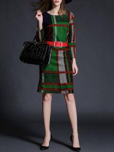 Wool blend Mini Dress with Belt