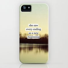 she saw every ending as a new beginning iPhone case