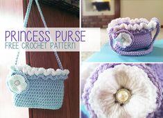 Princess Purse Crochet Pattern (Free Crochet Purse Pattern) | by Little Monkeys Crochet