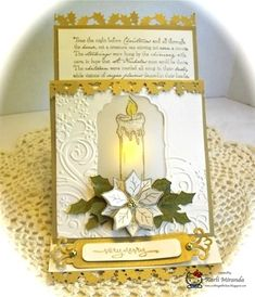 tea light easel card by maestra - Cards and Paper Crafts at Splitcoaststampers