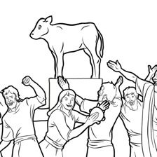 After being saved at the Red Sea, the Israelites began to worship a golden calf. What lessons can you learn from this Bible story? Discuss the activities as a family. Bible School Crafts, Bible Crafts, Idees Cate, Golden Calf, Christian Kids, Christian Preschool, Bible Coloring Pages, Church Crafts, Bible Teachings