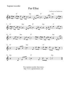 Beginner Fur Elise Sheet Music with Letters 43 Fur Elise Recorder Sheet Music Piano Sheet Music Classical, Free Violin Sheet Music, Trumpet Sheet Music, Saxophone Sheet Music, Easy Piano Sheet Music, Violin Music, Piano Songs, Sheet Music Notes, Note Sheet
