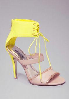 Bebe Michaela zipper sandals