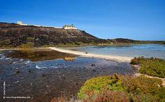 El faro de Martiño está situado en la montaña de Martiño en la isla de Lobos, a unos 5 km del Puertito. Alcanza los 29 m de altura sobre el nivel del mar y es la única obra oficial que hay en el islote de Lobos.