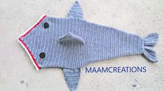 Crocheted Shark Cocoon by MAAMCREATIONS on Etsy