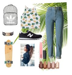 """""""Untitled #7"""" by eporima on Polyvore featuring Topshop, New Balance and MAC Cosmetics"""