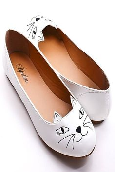 """This """"cat flats"""" are beyond adorable!"""