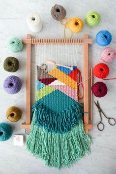 Tu es, mach mal wieder etwas selber! Lerne Weben und mach tolle Wandbehänge!