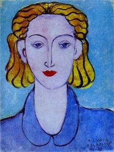 Jeune femme dans une blouse bleue par Henri Matisse