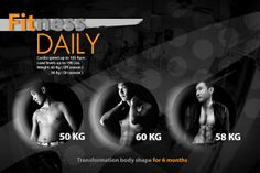 Fitness Daily | Transformation body shape for 6 months.